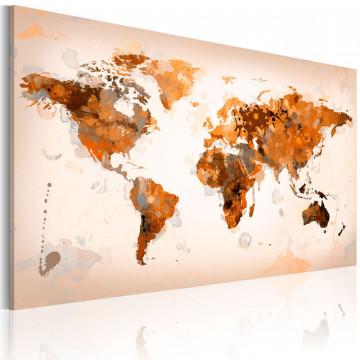 Tablou - Map of the World - Desert storm