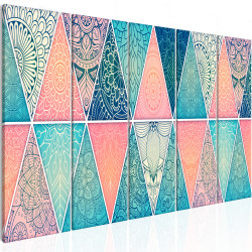 Tablou - Oriental Triangles (5 Parts) Narrow