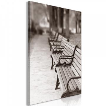 Tablou - Park Benches (1 Part) Vertical