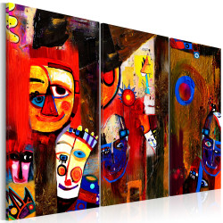Tablou pictat manual - Abstract Carnival