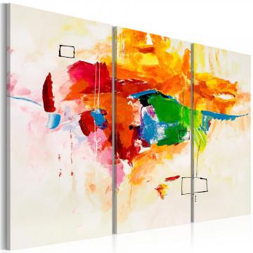 Tablou pictat manual - The parrot