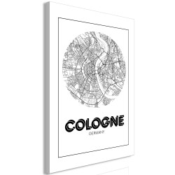 Tablou - Retro Cologne (1 Part) Vertical