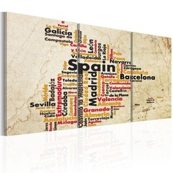 Tablou - Spain: text map in colors of national flag