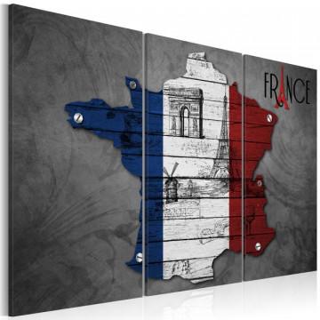 Tablou - Symbols of France - triptych