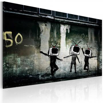 Tablou - TV heads dance (Banksy)