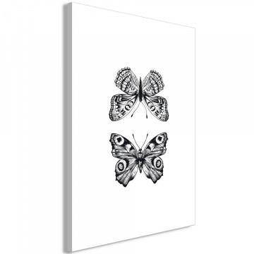 Tablou - Two Butterflies (1 Part) Vertical
