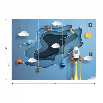Through Space Papercut Series