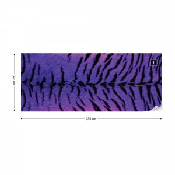 Tiger Animal Purple Photo Wallpaper Wall Mural