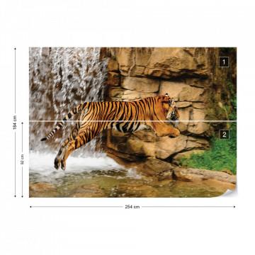 Tiger Waterfall Nature Photo Wallpaper Wall Mural