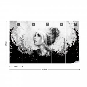 Woman Black And White Photo Wallpaper Wall Mural