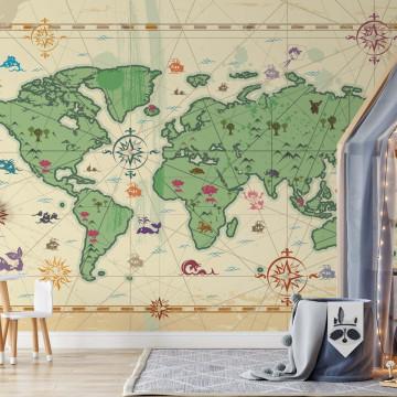 World Atlas Treasure Style