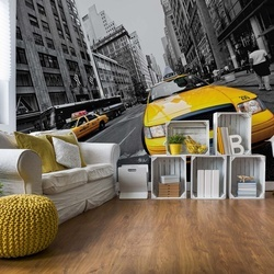 Yellow New York Cabs Photo Wallpaper Wall Mural