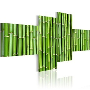 Tablou - Green bamboo stalks