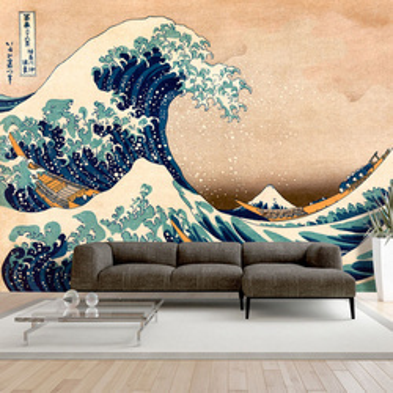 Fototapet - Hokusai: The Great Wave off Kanagawa (Reproduction)