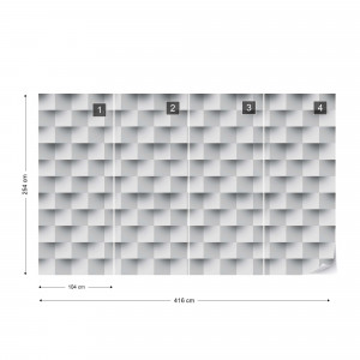 3D Brick Illusion Pattern Photo Wallpaper Wall Mural