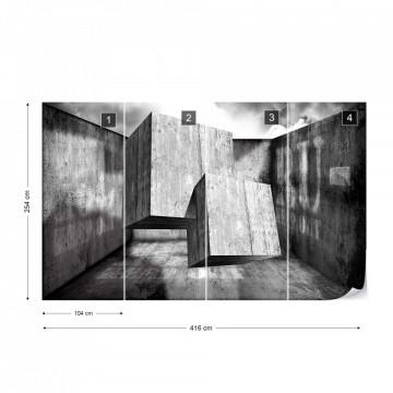 3D Concrete Cubes Modern Design Photo Wallpaper Wall Mural