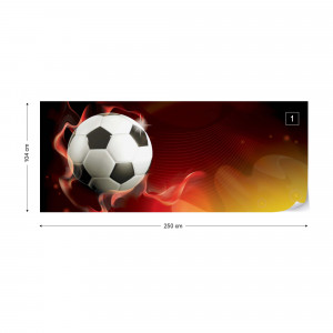 3D Football Red And Yellow Photo Wallpaper Wall Mural