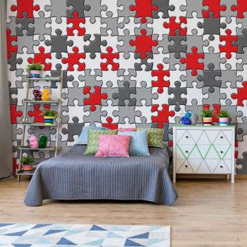 3D Jigsaw Puzzle Photo Wallpaper Wall Mural