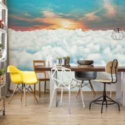 Above The Clouds Sky Sunset Photo Wallpaper Wall Mural
