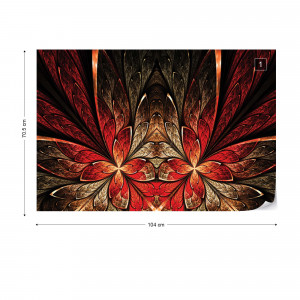 Abstract Red Design Photo Wallpaper Wall Mural