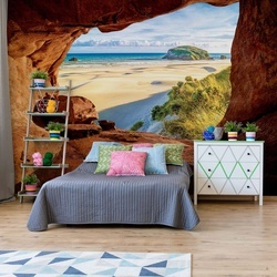 Beach Cave Photo Wallpaper Wall Mural