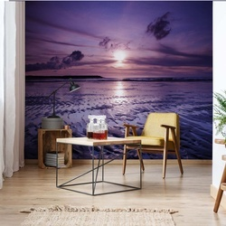 Beach Sunset Photo Wallpaper Wall Mural