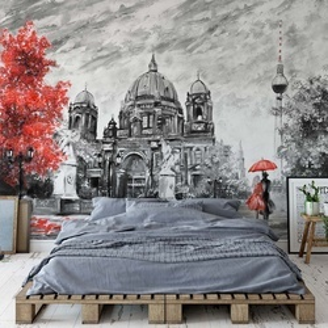Berlin Art Painting Photo Wallpaper Wall Mural