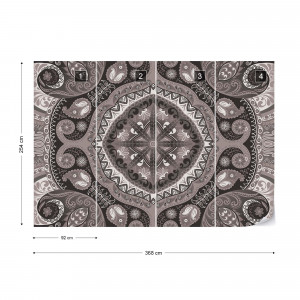 Black And White Pattern Photo Wallpaper Wall Mural