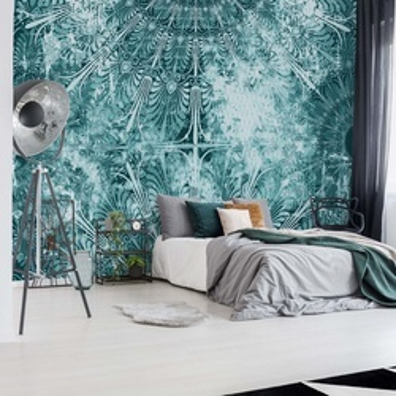 Blue Turquoise Vintage Grunge Design Photo Wallpaper Wall Mural