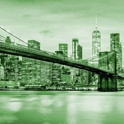 Brooklyn Bridge NYC in Green