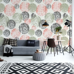 Circle Pattern Photo Wallpaper Wall Mural