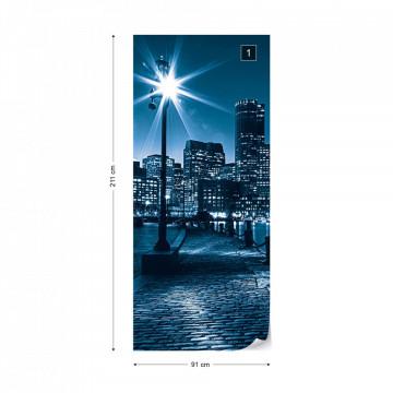City Boston Skyline Photo Wallpaper Wall Mural