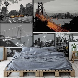 City Comic Style Photo Wallpaper Wall Mural