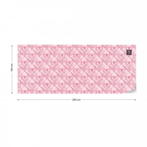 Floral Pattern Pink Photo Wallpaper Wall Mural