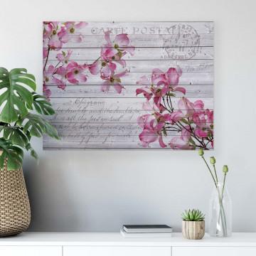 Floral Vintage, Vintage, & Retro Canvas Photo Print