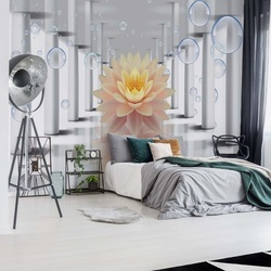Flower 3D Bubbles Photo Wallpaper Wall Mural