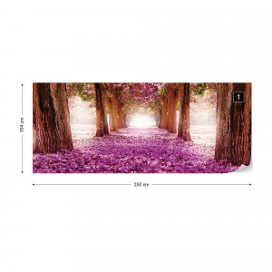 Flowers Trees Path Pink Photo Wallpaper Wall Mural