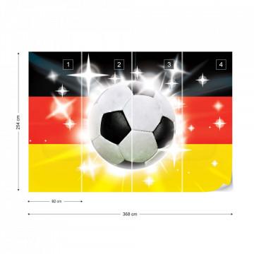 Football German Flag Sparkles Photo Wallpaper Wall Mural