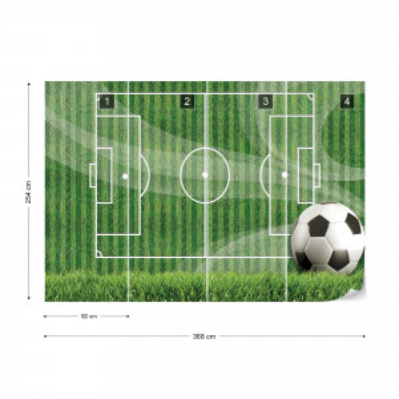 Football Pitch Photo Wallpaper Wall Mural
