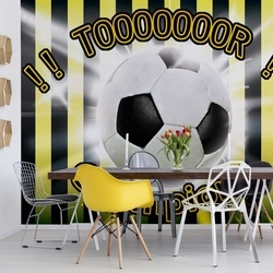 Football Yellow And Black Champions Photo Wallpaper Wall Mural
