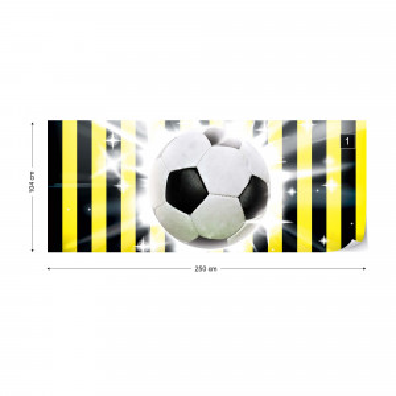 Football Yellow And Black Stripes Photo Wallpaper Wall Mural