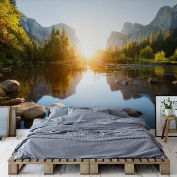 Fototapet – Dimineață la Munte