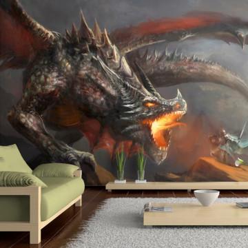 Fototapet autoadeziv - Dragon fire