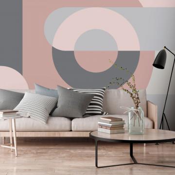 Fototapet autoadeziv - Geometric Wreath (Pink)