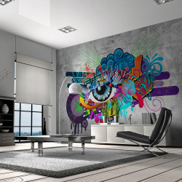 Fototapet autoadeziv - Graffiti eye
