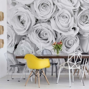Fototapet - Buchet de Trandafiri – Alb-Negru