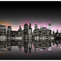 Fototapet - Colorful glow over NYC