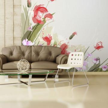 Fototapet - Flower background