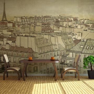 Fototapet - Good bye Paris!