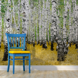 Fototapet - In birch grove...